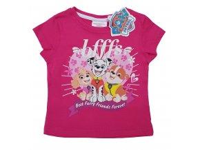 Dívčí triko TLAPKOVÁ PATROLA 1179 - růžové