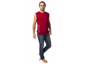 Pánské triko bez rukávů CALVI 20-068 - vínové