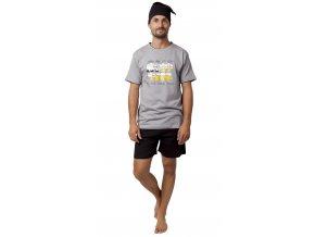 Pánské pyžamo CALVI 20-103 - šedé