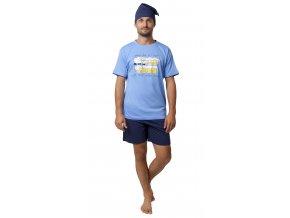 Pánské pyžamo CALVI 20-103 - modré