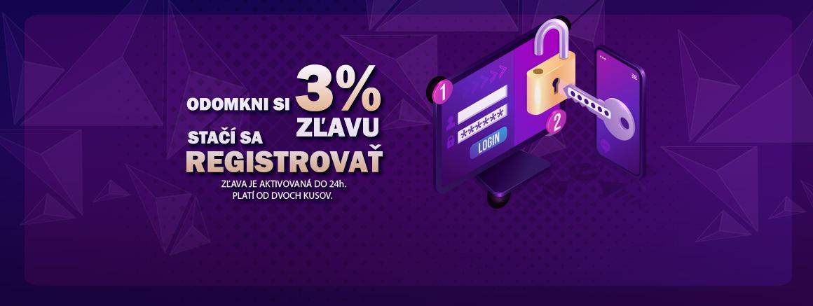 3% zľava