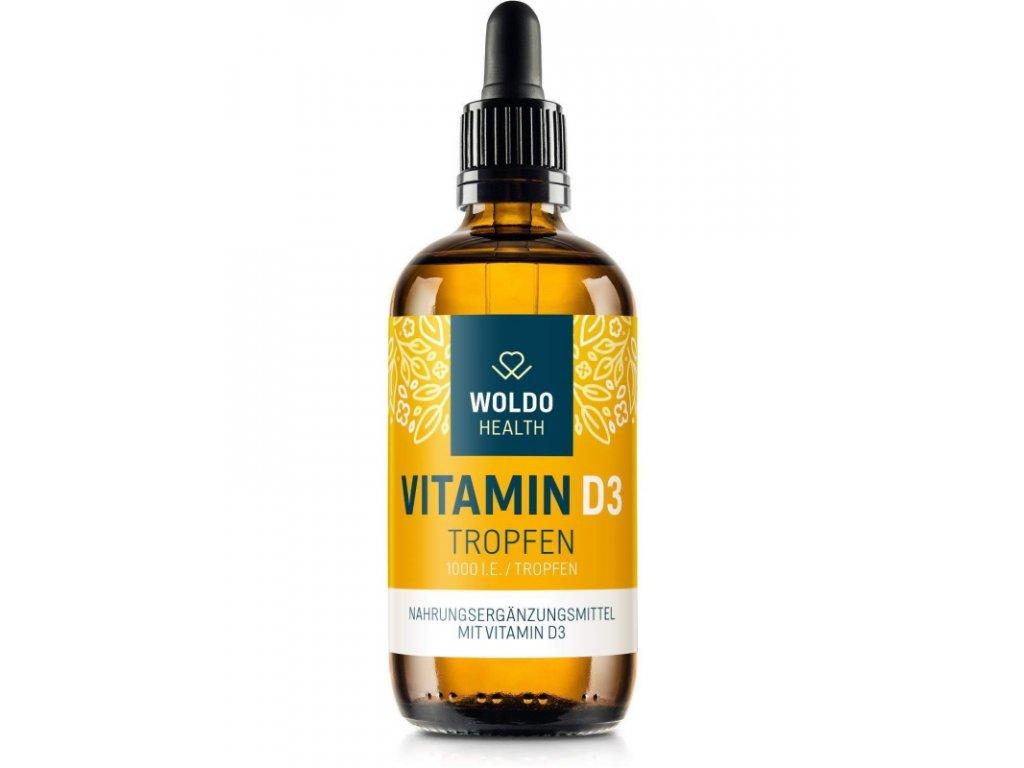 Vitamin D3 v MCT oleji, kapky 1000/2000 IU
