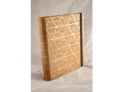 Dřevěný zápisník - Vlastní motiv