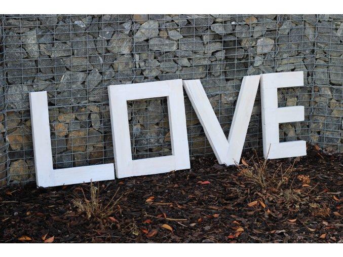 Dekorativní písmena LOVE