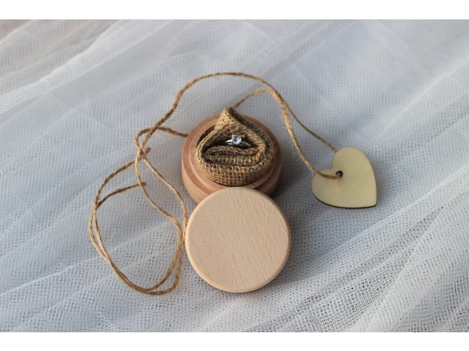 Krabička na prsteny kulatá bez nápisu