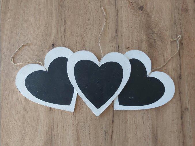 Srdce na zavěšení 3ks