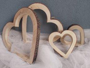 Srdce na zavěšení 4ks