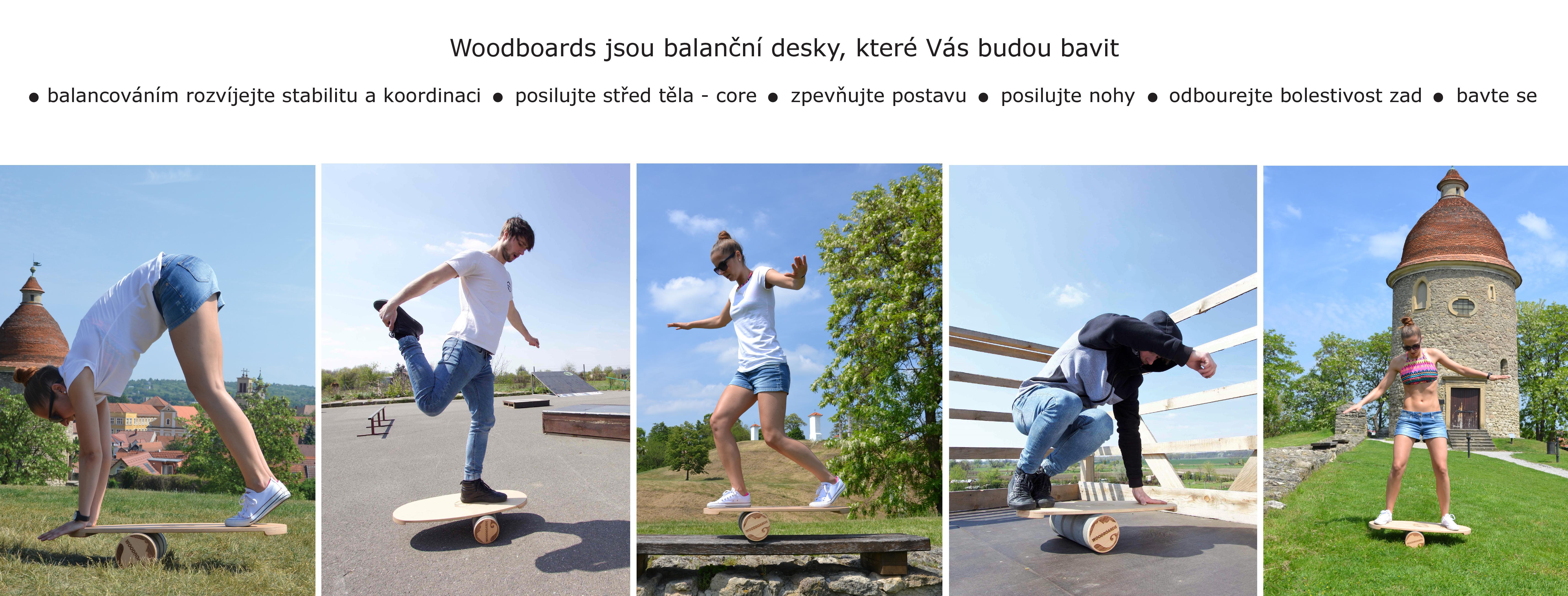 Balancování woodboards