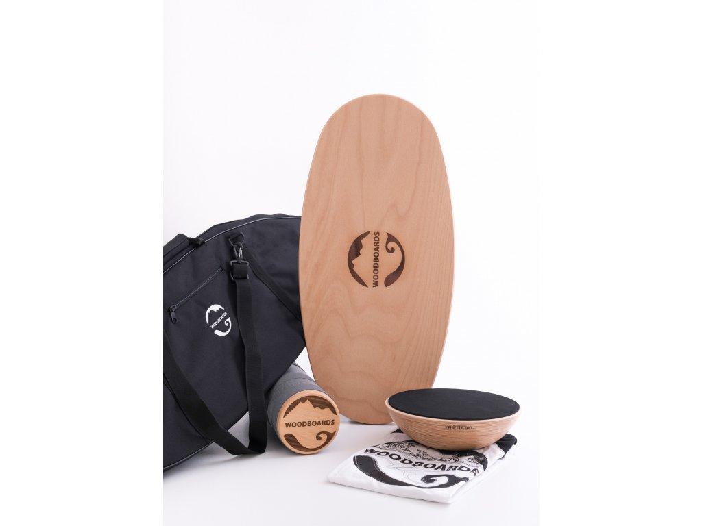 Original mega set s dárkem - Woodboards Original komplet + Rehabo 360 + přepravní taška + triko zdarma  Woodboards, Balance board, Indo board