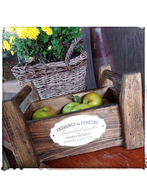 Drevená debnička na ovocie