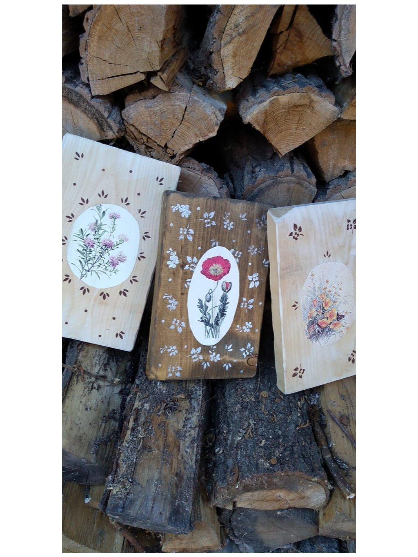 Set drevených obrázkov