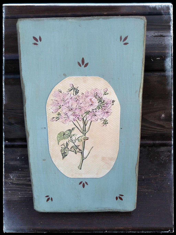 Vidiecky kvetinový obrázok modrý