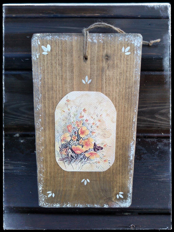 kvetinový obrázok z dreva