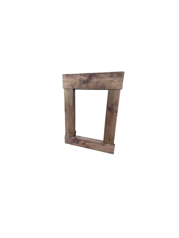 Zrkadlo z masívneho dreva
