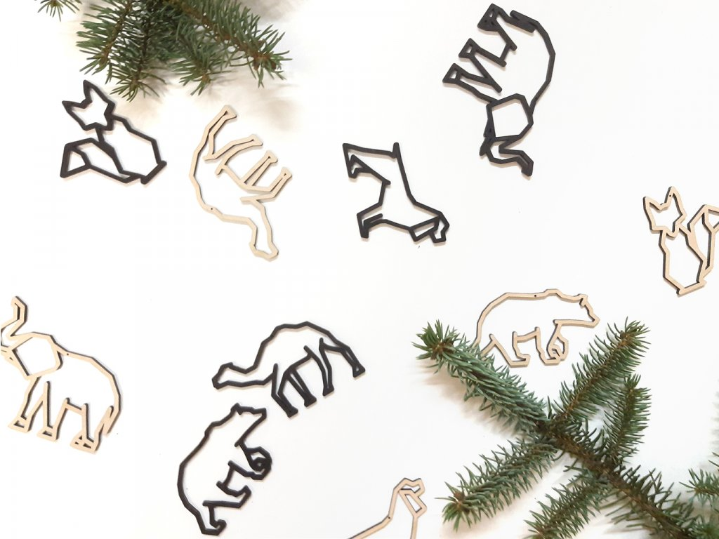 Wooden moment - vánoční ozdoby Fauna