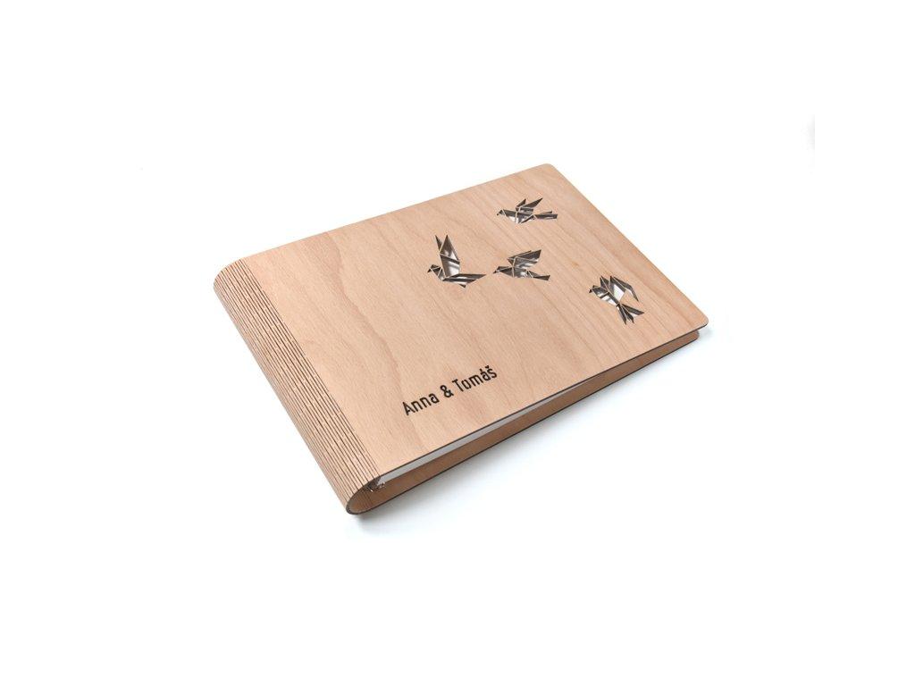 Wooden moment dřevěné album Ptáci