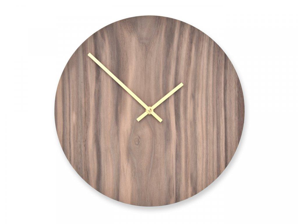 Dřevěné hodiny Wooden Moment Classic Ořech