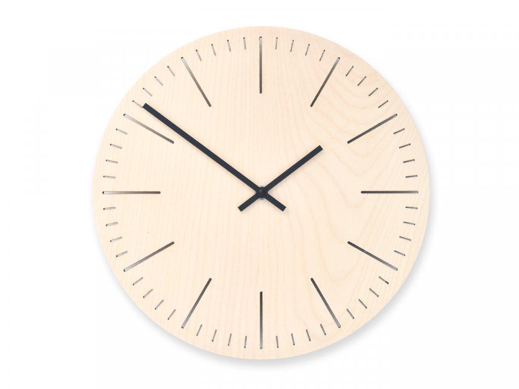 Dřevěné hodiny Wooden Moment Line Javor