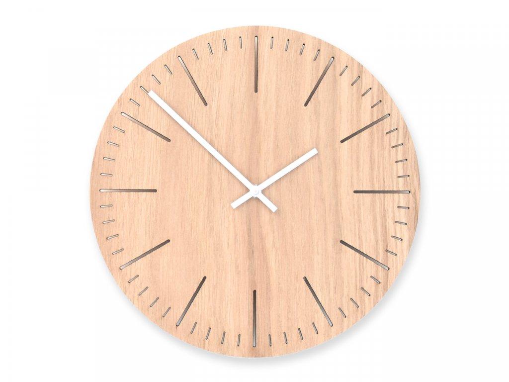 Dřevěné hodiny Wooden Moment Line Dub