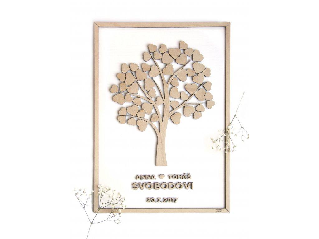 Wooden moment Dřevěný svatební strom