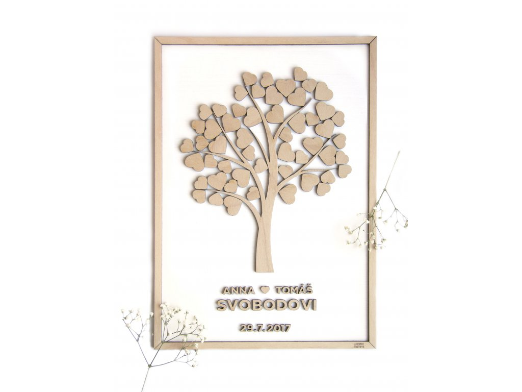 Dreveny Svatebni Strom Woodenmoment Cz