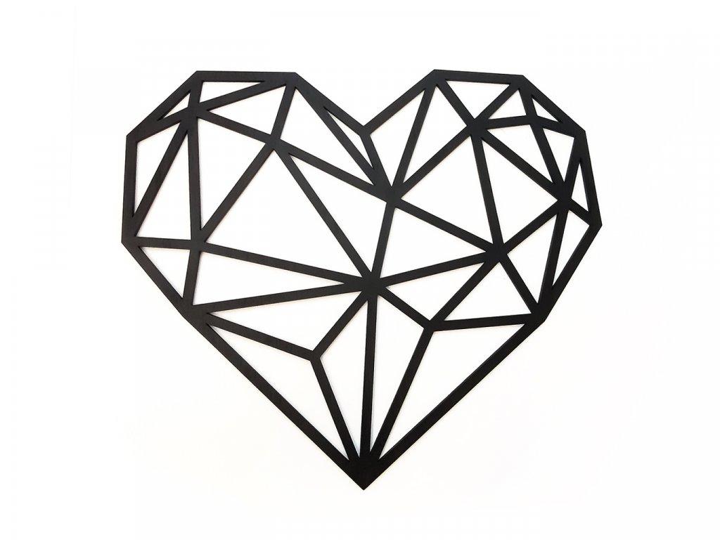 Polygon Srdce Black - Wooden Moment