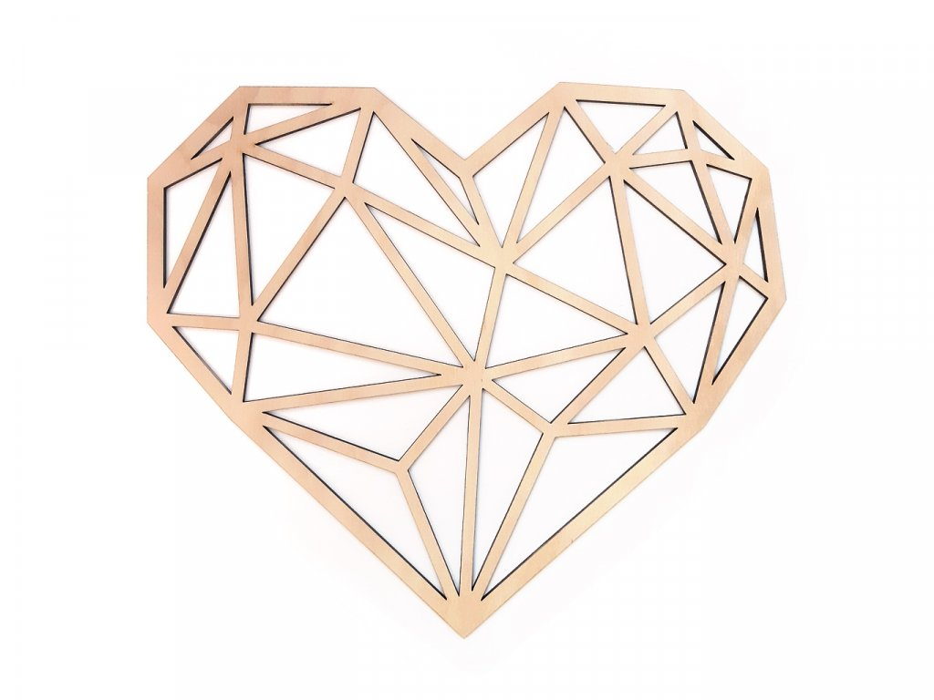 Polygon Srdce Natural - Wooden Moment