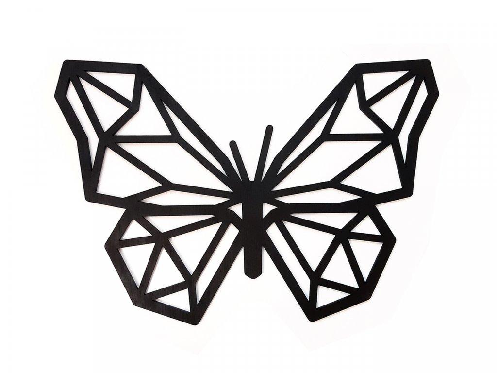 Polygon Motýl Black - Wooden Moment