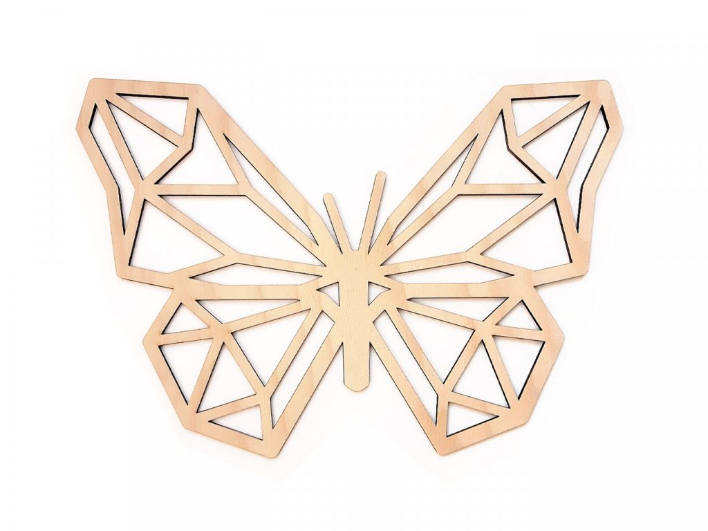 Polygon Motýl Natural - Wooden Moment