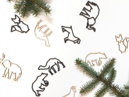 Vánoční ozdoby Fauna - Wooden moment