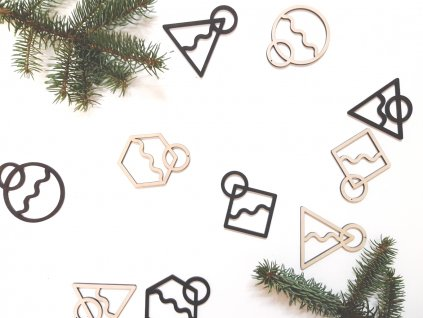 Vánoční ozdoby Wooden Moment Geo