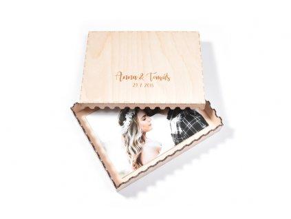Drevena krabicka na fotky - WOODEN MOMENT
