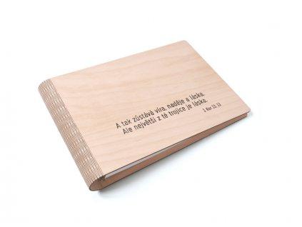 Wooden moment dřevěné album S citátem nebo s textem