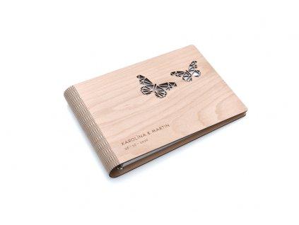 Wooden Moment Dřevěné fotoalbum Motýli
