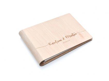 Wooden moment - Svatební album se jmény novomanželů 2