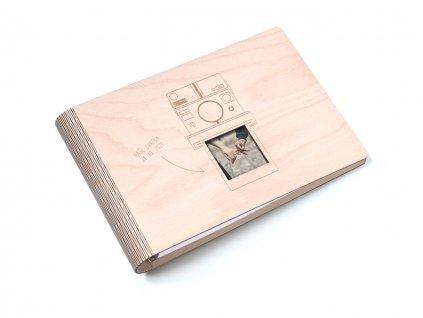 Dřevěné fotoalbum Wooden Moment - Polaroid