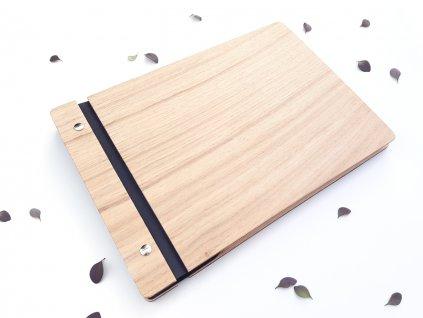 Wooden Moment - dřevěné dubové fotoalbum - boční strana