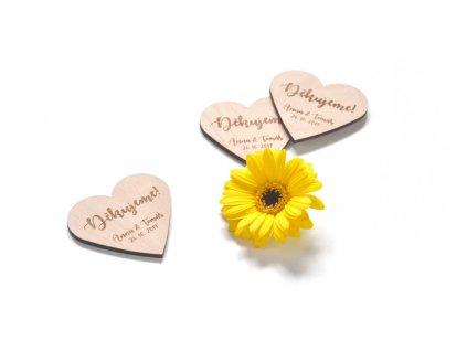 Dřevěné děkovné magnety
