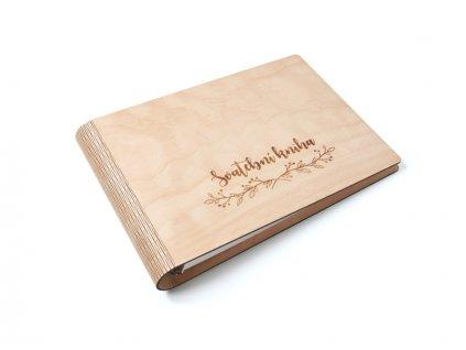 Wooden moment drevena svatebni kniha