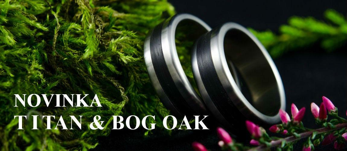 Novinka v podobě prstýnků z titanu a dřeva Bog Oak