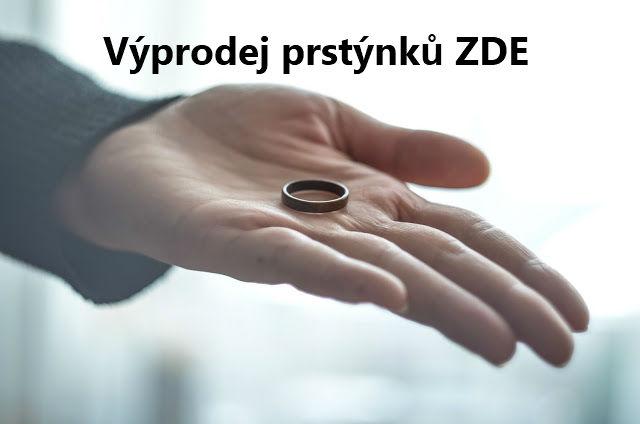 Výprodej skladových prstýnků