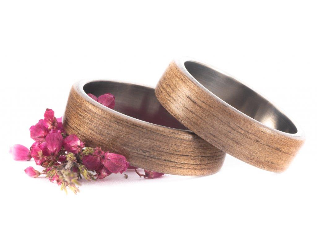 Snubní prstýnky Titanium Z-American Walnut