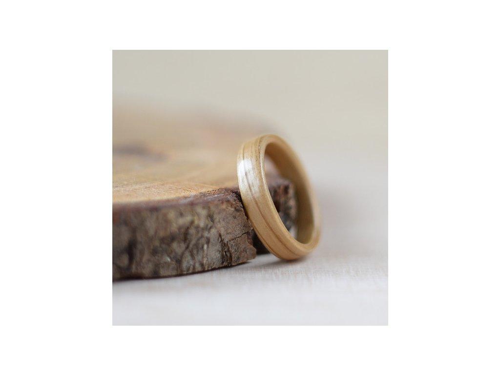Dřevěný prstýnek OAK NATURAL