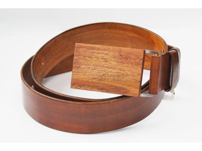 Hnědý dřevěný pásek
