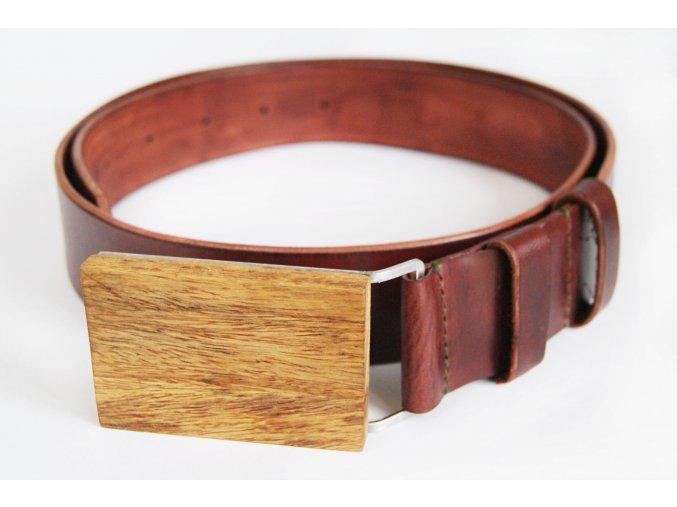 Dřevěný opasek s mahagonu