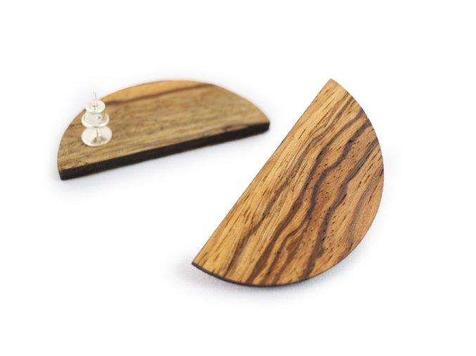 Náušnice ze dřeva