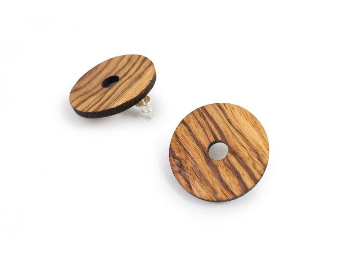 Dřevěné náušnice kruhy