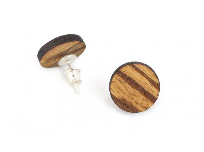 Náušnice kolečka ze dřeva