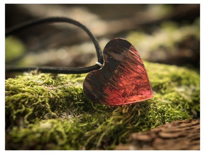 Přívěsek srdce z lásky
