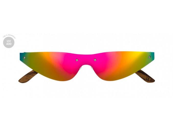 Dřevěné sluneční brýle Techno